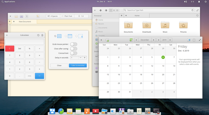 elementary OS comes with a suite of default apps