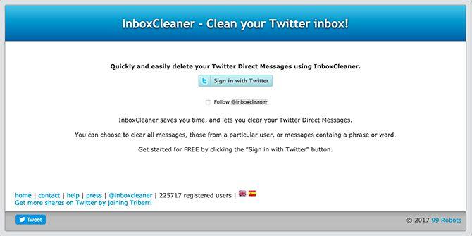 البريد الوارد الأنظف التغريد
