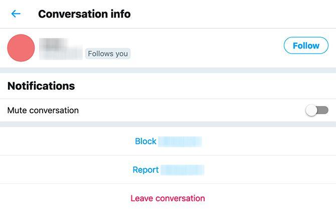 كيف يمكنني حذف التغريد DMs