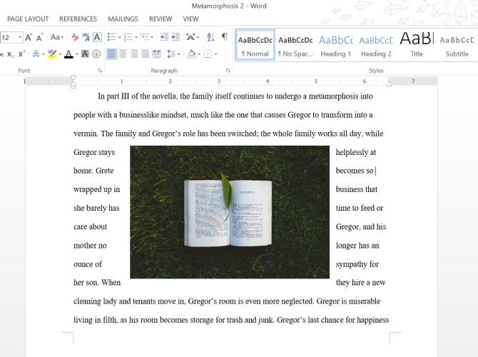 Microsoft Word Square Text Wrap