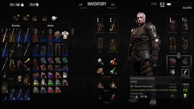 The Witcher 3 tips - horse equipment