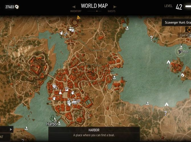 The Witcher 3 tips - fast travel map