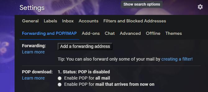 Адрес пересылки Gmail