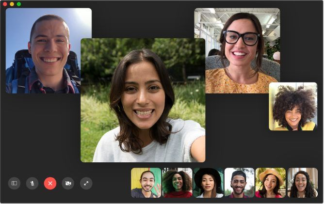 Group FaceTime Chat on Mac
