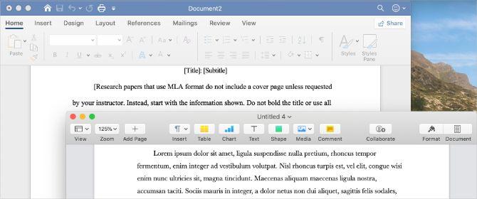 Microsoft Office против пользовательского интерфейса Apple iWork