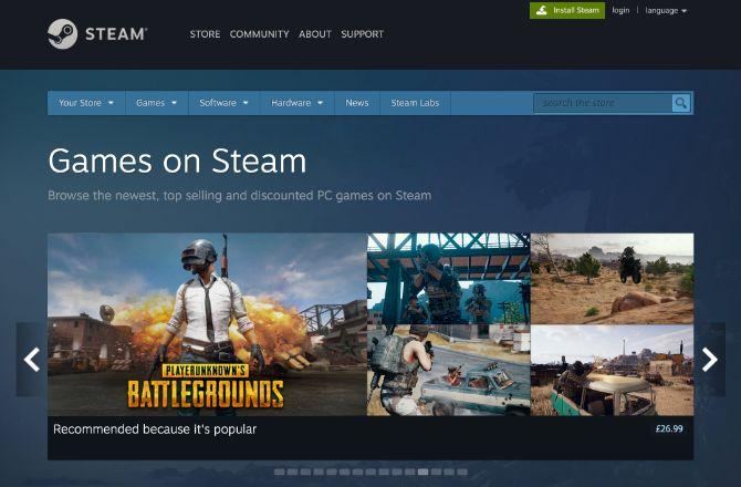 ألعاب الكمبيوتر على Steam