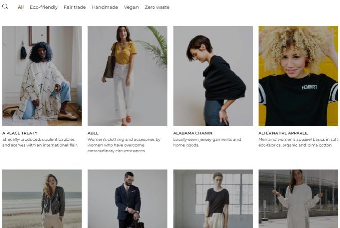 Eticaly hosts a catalogue of eco-friendly, vegan, handmade, fair trade, and zero waste fashion brands