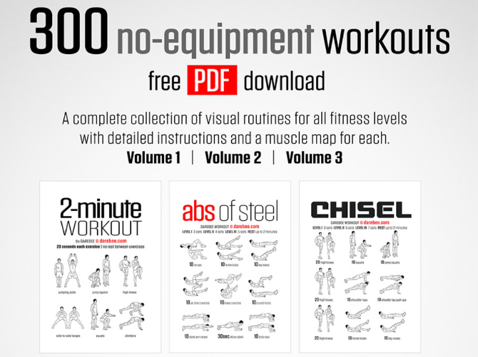 5 Free No-Equipment Workouts to Get Fit
