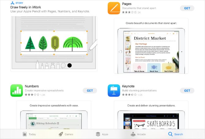 Приложения iWork в iPad App Store отображаются как бесплатные