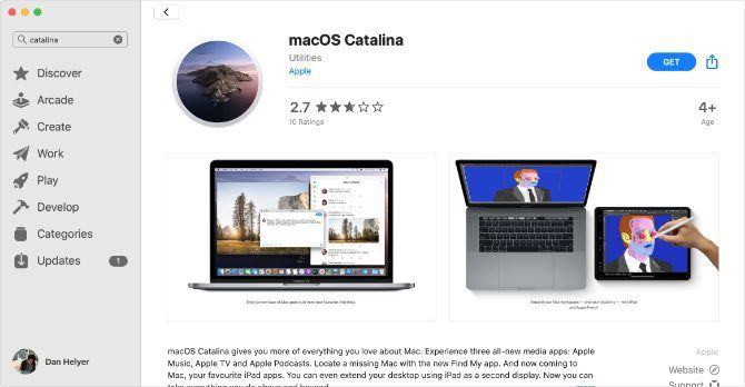 macOS Catalina on the Mac App Store