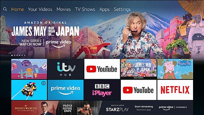 Amazon Fire TV Stick home screen