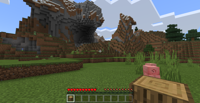 Switch from survival mode to creative mode in Minecraft