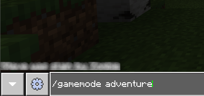 Change Minecraft game mode with a command