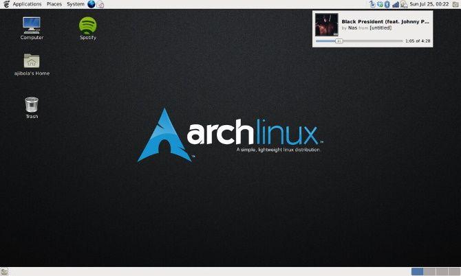 Arch Linux hafif bir Linux işletim sistemidir