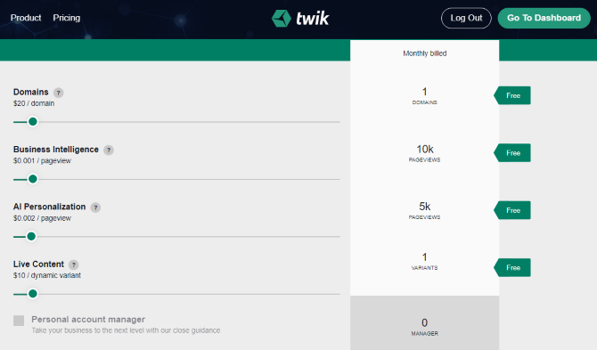 Personalize content on your website with twik