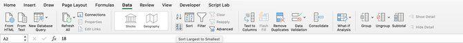 Quick Sort Excel to Invert Columns