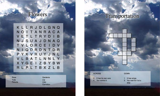 Instant Online Puzzle Maker создает поиск и кроссворды