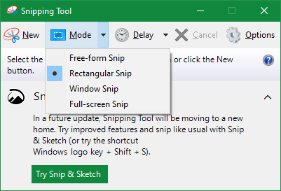 Windows Snipping Tool Home