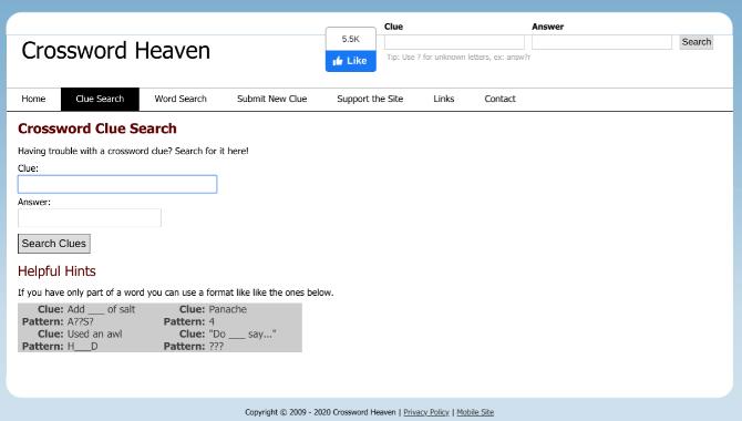 Crossword Heaven is one of the best free online crossword solver apps