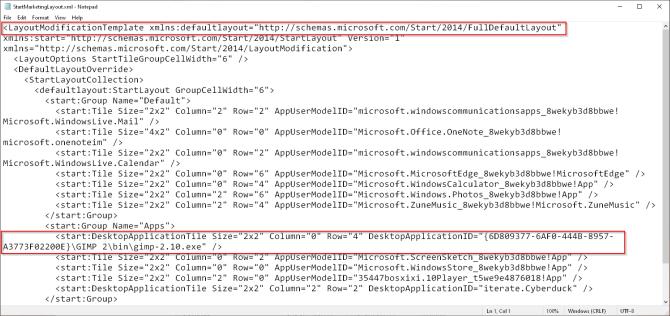 начать макет кода в Windows 1809