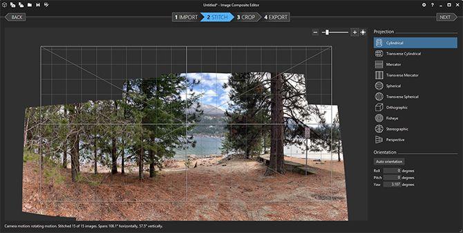 Создать редактор панорамных изображений