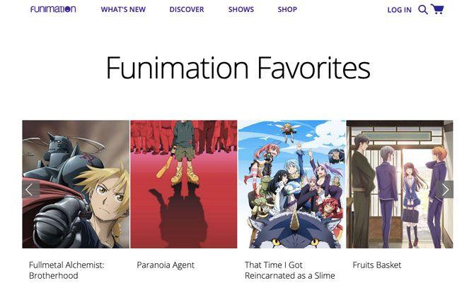 funimation streaming favorites