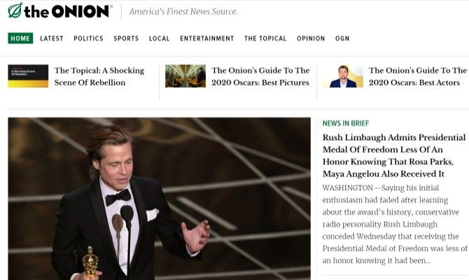The Onion Funny News Sites