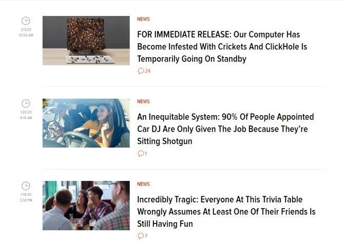 ClickHole Funny News Sites