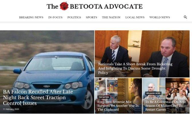 The Betoota Advocate Funny News Sites