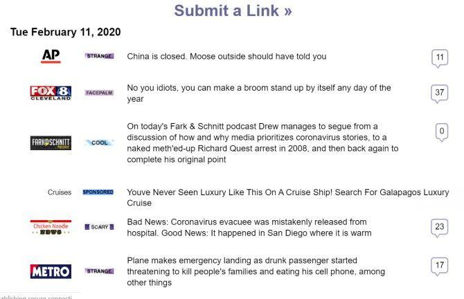 Fark Funny News Sites