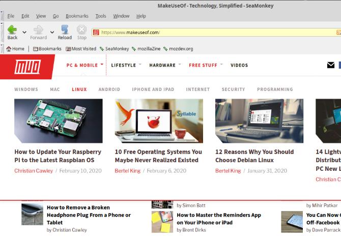 Попробуйте веб-браузер и почтовый клиент SeaMonkey Linux