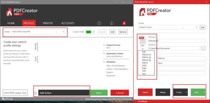 PDFCreator инструмент для печати