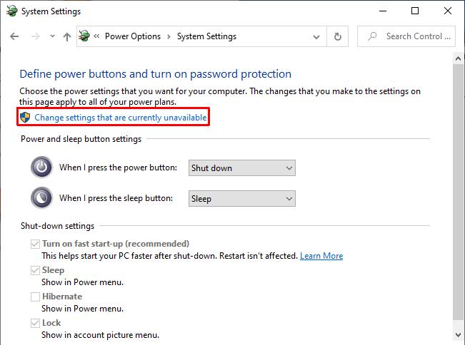 В настройках питания Windows 10 отключить быстрый запуск