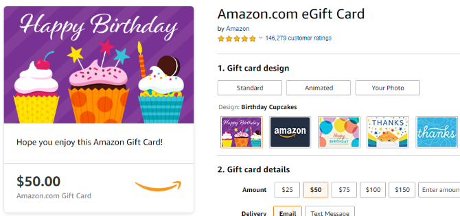 The storepage for Amazon eGift cards