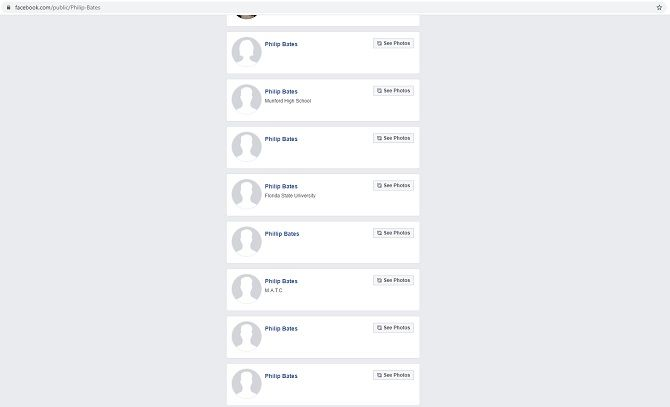 график поиска профиля в социальных сетях