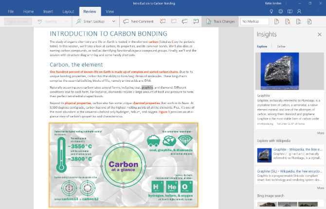 Microsoft Word Mobile for Windows 10 is a free reader for Word documents