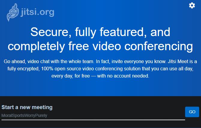 Jitsi Meet Video Tool