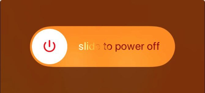 Slide to power off prompt on iphone