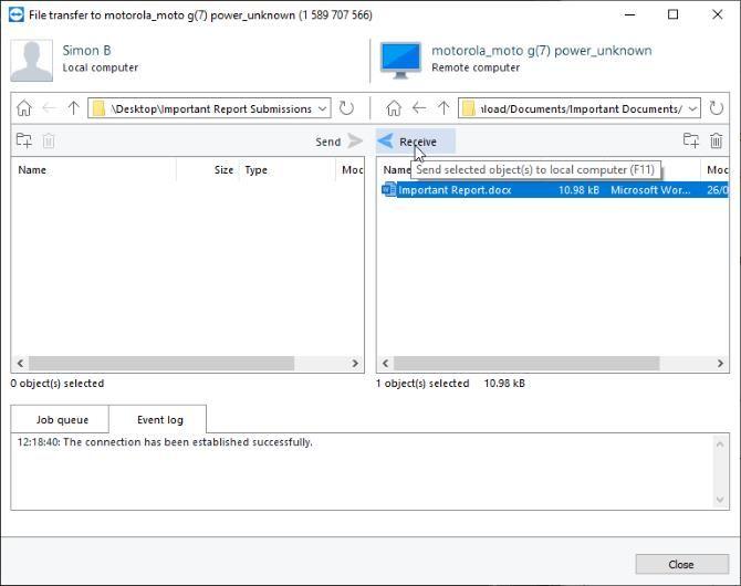 Перенос файла на версию ПК