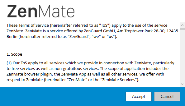 Обзор ZenMate VPN: размышление о вашей конфиденциальности Условия установки обзора ZenMate