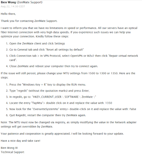 Обзор ZenMate VPN: размышление о вашей конфиденциальности Поддержка четвертого обзора ZenMate