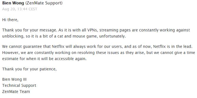 Обзор ZenMate VPN: размышление о вашей конфиденциальности Поддержка второго обзора ZenMate