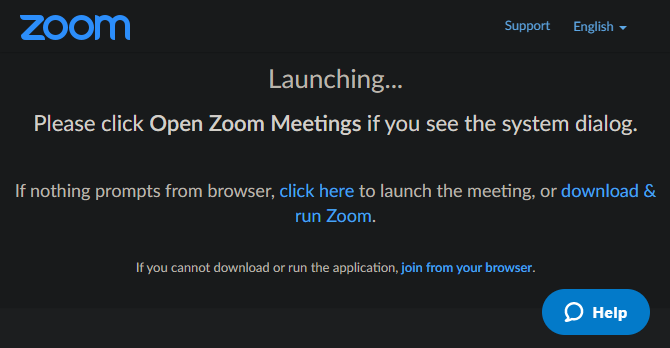 Zoom Launch Meeting