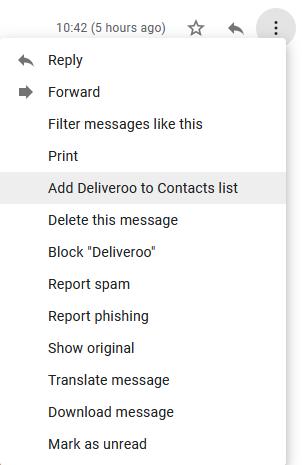 Gmail добавить в список контактов