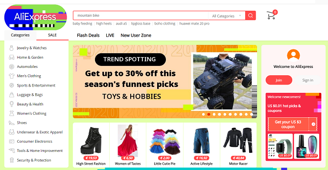international shopping sites with free shipping