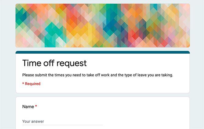 Используйте Google Forms для бизнеса