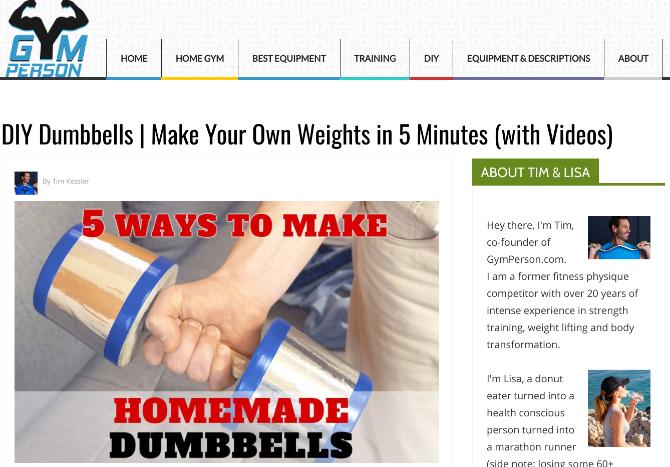 Сделайте самодельные гантели и домашние веса с помощью пошаговых руководств GymPerson