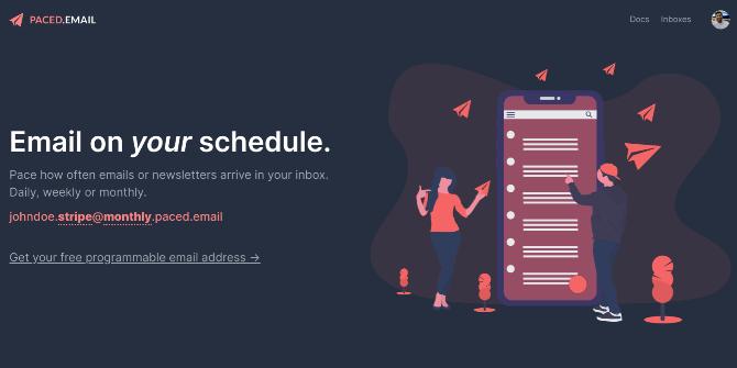 Paced Email дает вам псевдоним электронной почты для пакетной рассылки