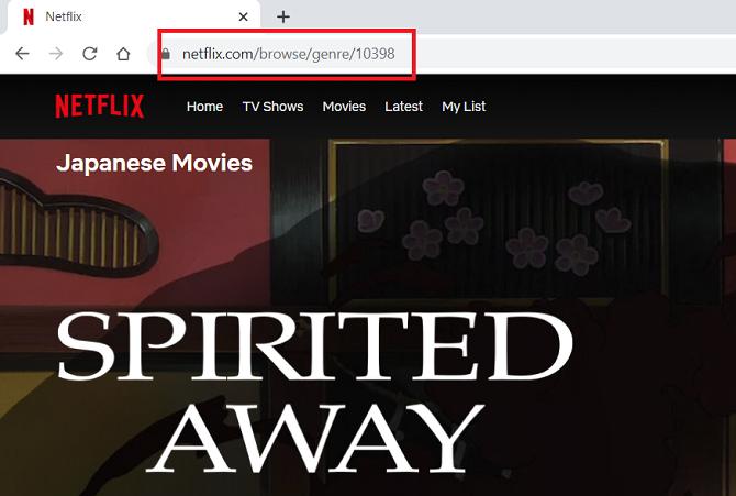 URL секретного кода Netflix