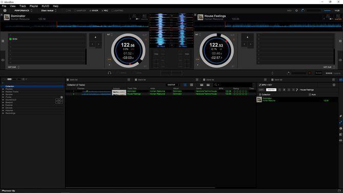 скриншот интерфейса rekordbox